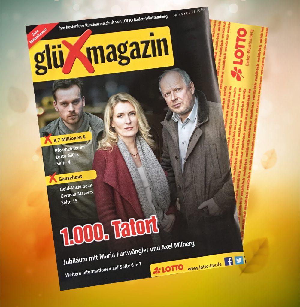 Das Jubiläum des Tatort ist Titelthema der Ausgabe 44/2016 des glüXmagazin