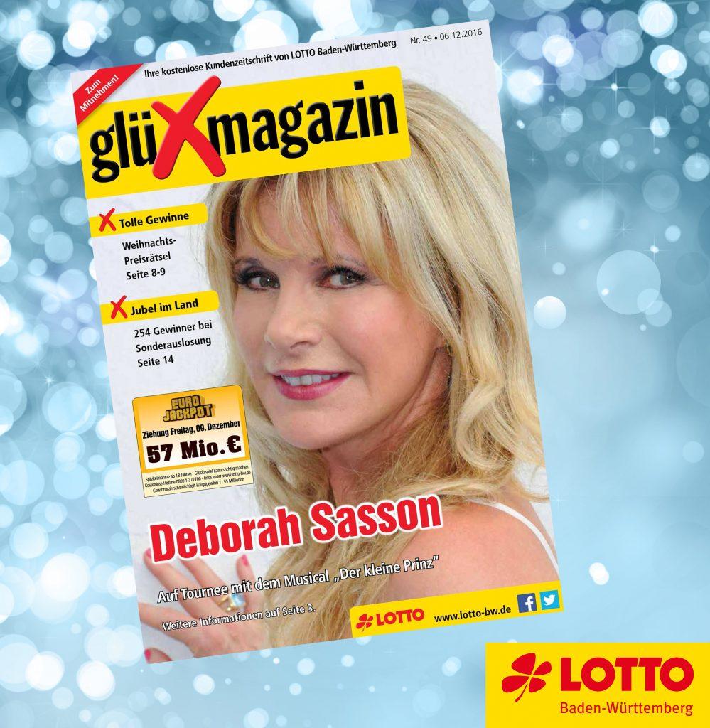 Die aktuelle Ausgabe des glüXmagazin gibt es jeden Dienstag neu. Online und in allen Lotto-Annahmestellen in Baden-Württemberg.
