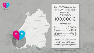 LOGEO-Glück: Spieler im Umkreis von 45 km freuen sich I www.träumdichlotto.de I
