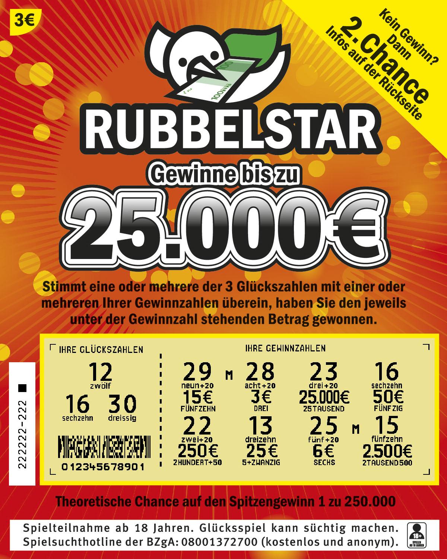 Rubbelstar von LottoBW