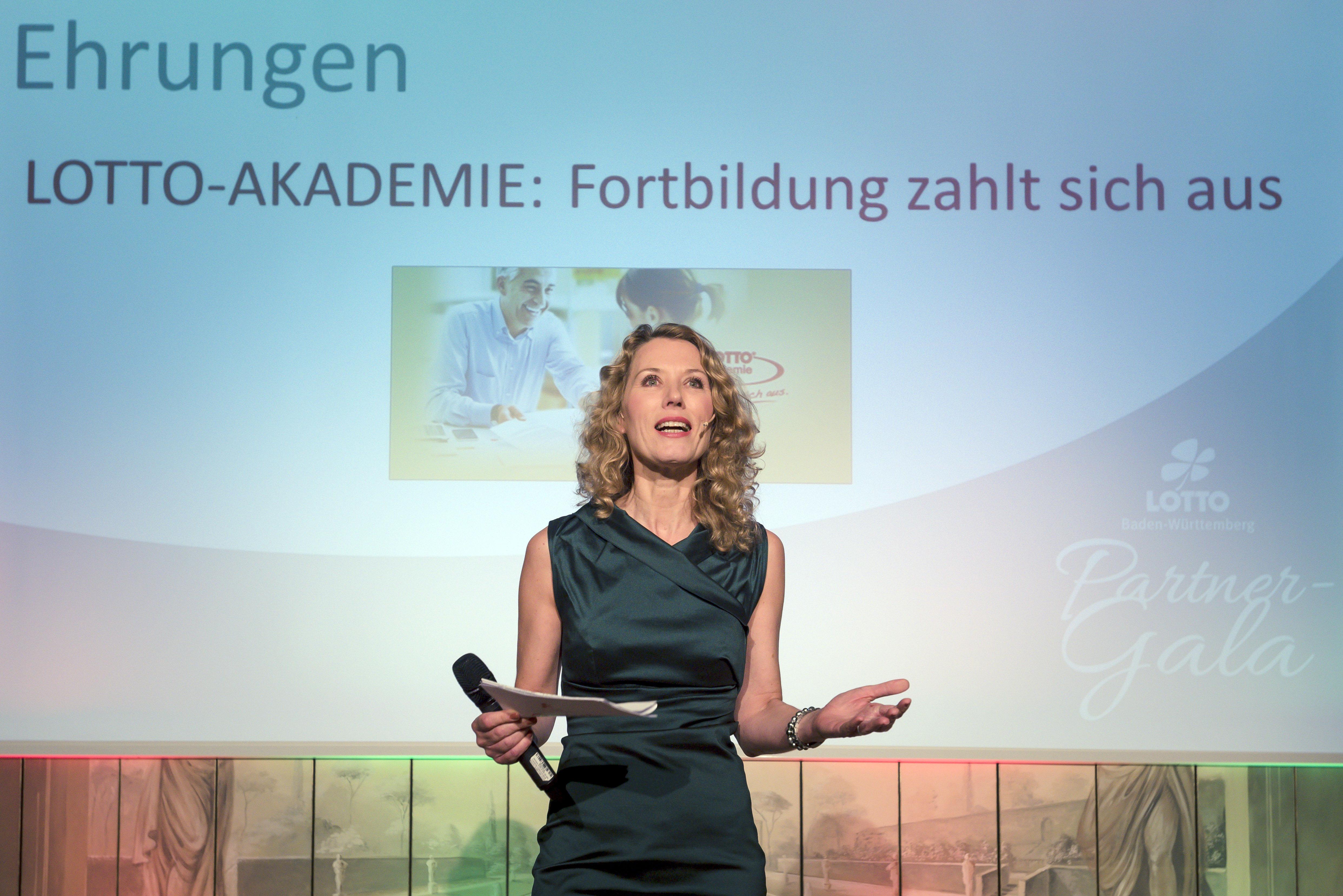 Franziska Reichanbacher auf der Bühne