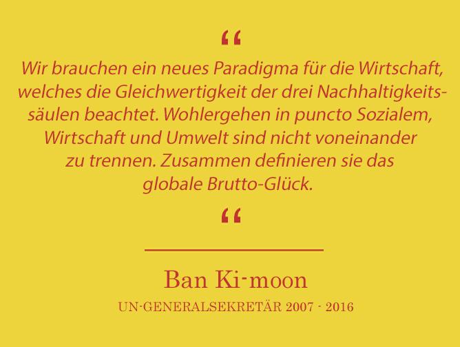 Ban Ki-moon über den Weltglückstag