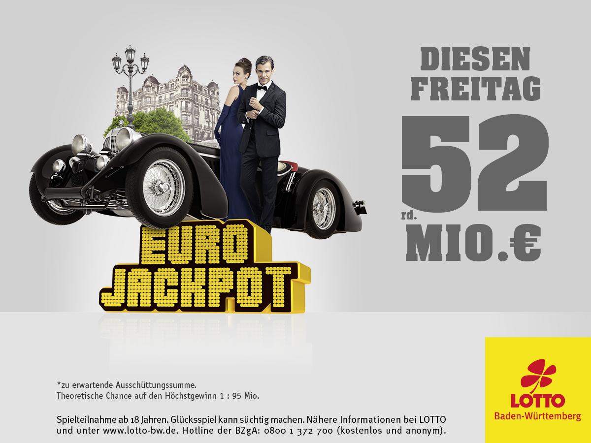 52 Millionen Euro im Eurojackpot