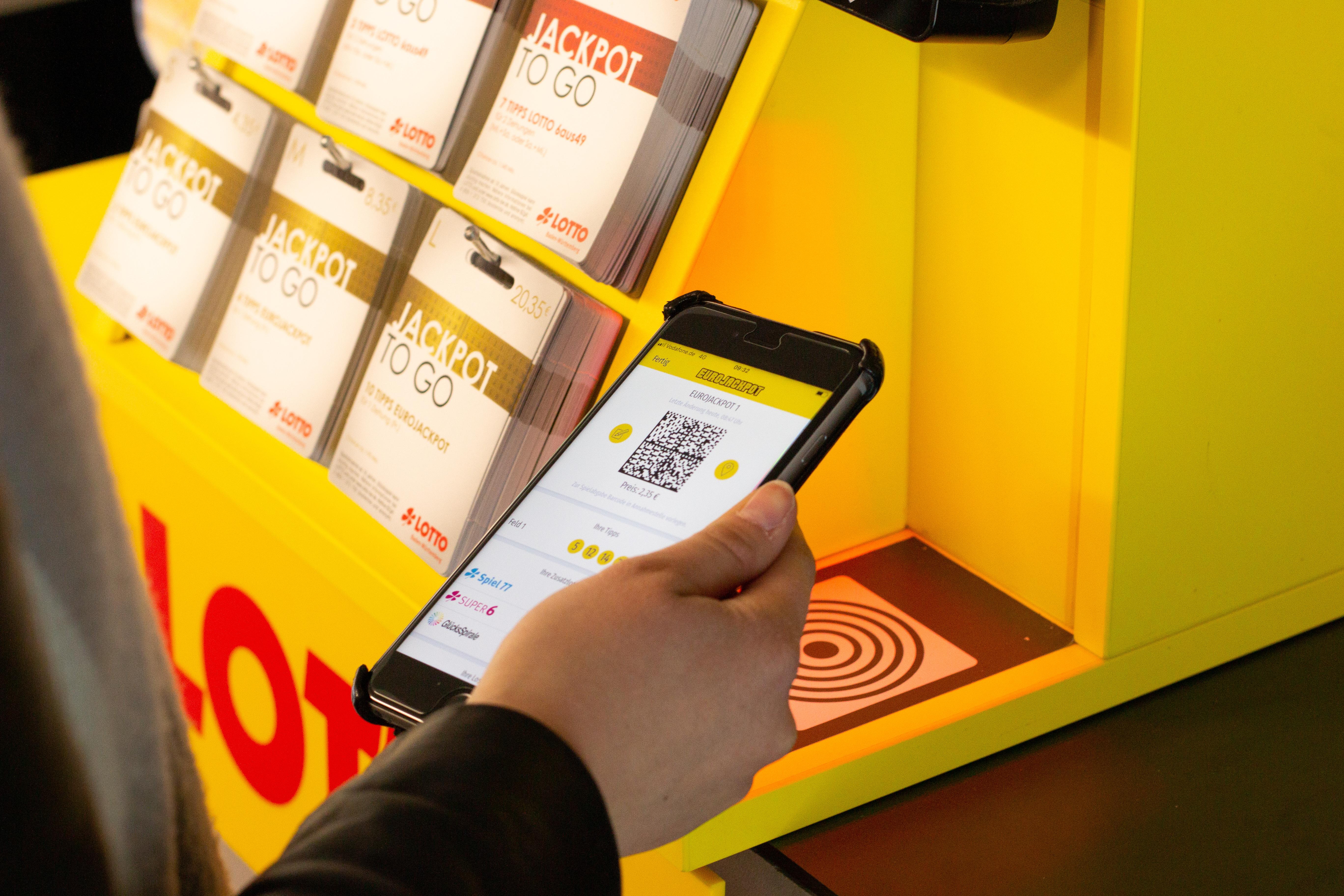 Lotto-Quick: Mit der ANNA-App kann man seinen Spielschein vorbereiten und dann ganz einfach per Barcode spielen.
