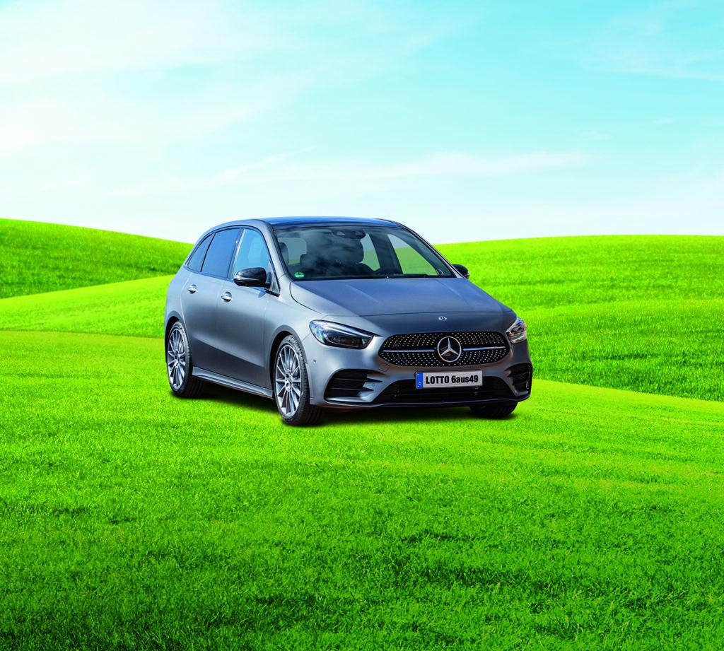 Das Bild zeigt eine Mercedes-Benz B-Klasse